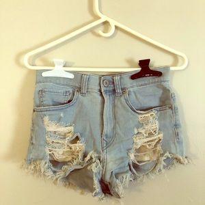 Express high wasted shorts